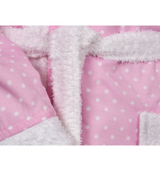 Albornoz Estampado Rizo rosa con lunares