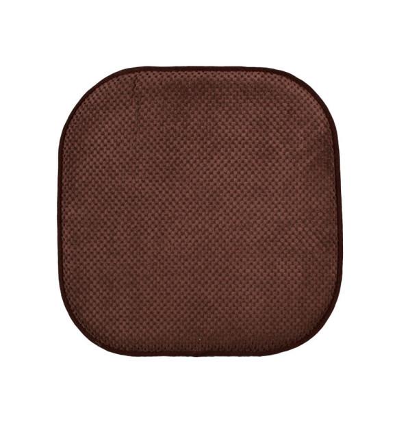Cojín antideslizante para silla marrón