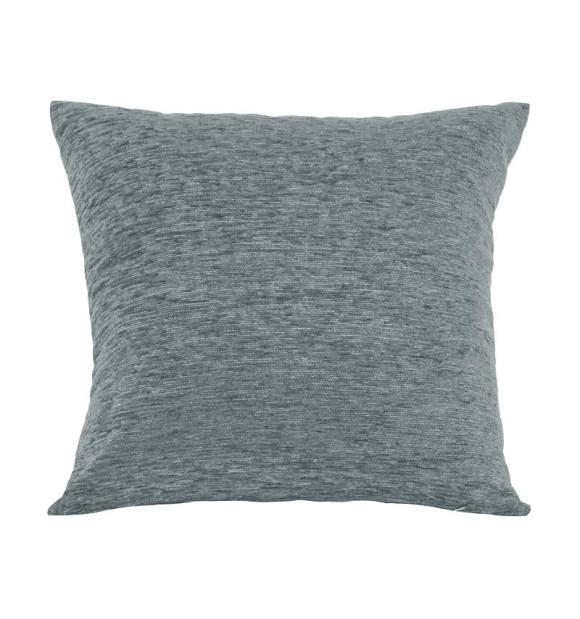 Almofada de veludo cinza