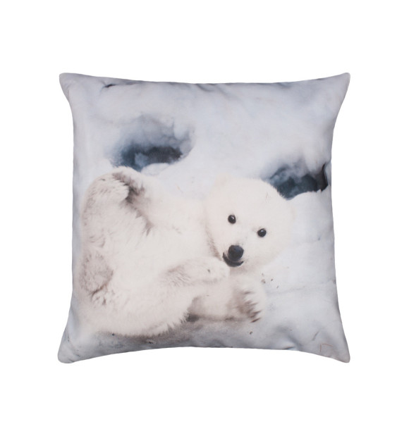 Cojín con dibujo de oso polar