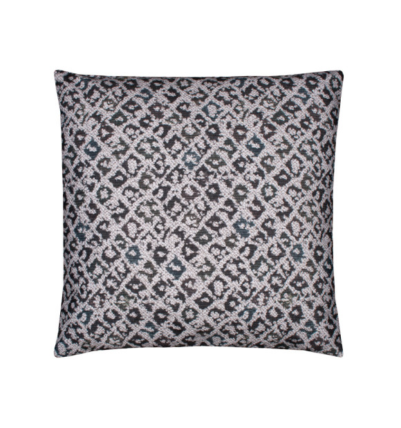 Cojín efecto leopardo en color blanco y negro
