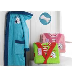 Albornoz Infantil Doggy Azul