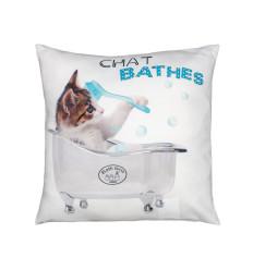Cojín con relleno gatito Bath