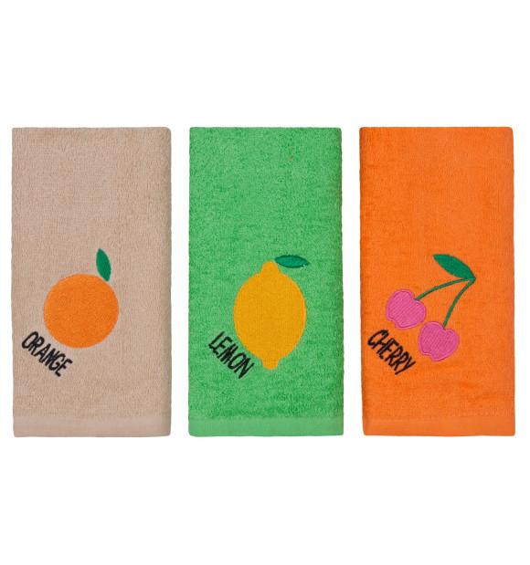 Paño de Cocina Frutas set 3 piezas