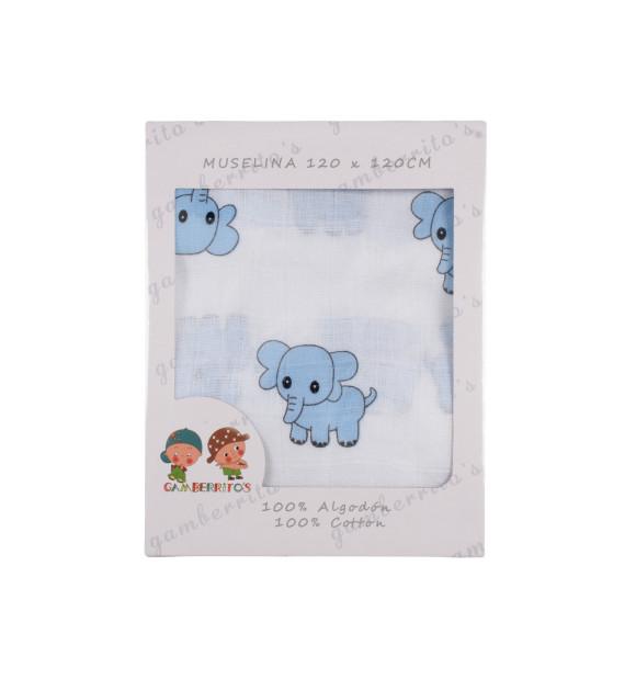 Gasa Muselina Elefantes
