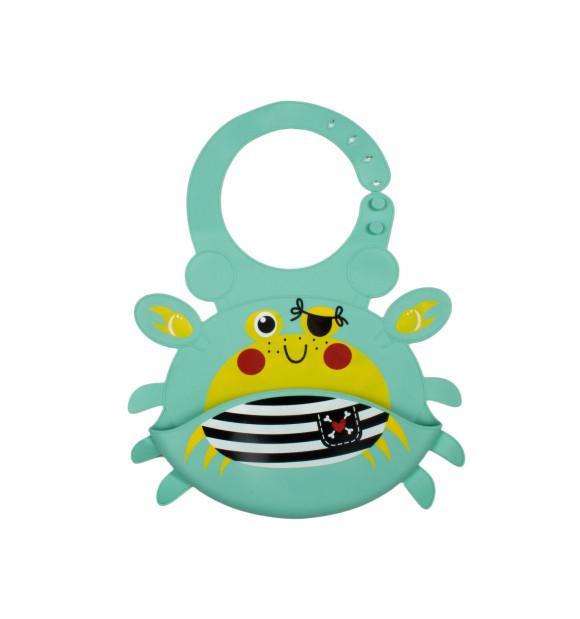Babero de silicona para bebé modelo Crab