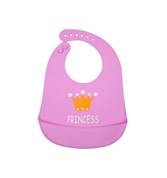 Babero de silicona para bebé modelo Princess