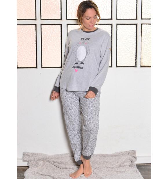 Pijama Privata Algodón Pingüino