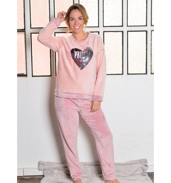 Pijama Privata Coralina Corazón