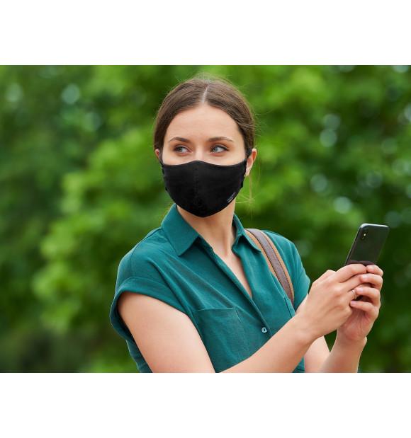 Máscara higiênica reutilizável preta HISPANOTEX VIROBLOCK