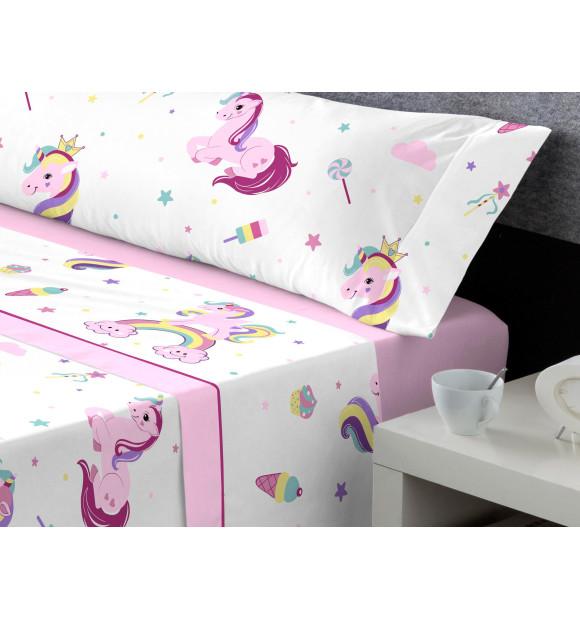 Sábanas Coralina infantiles Miss Unicornio