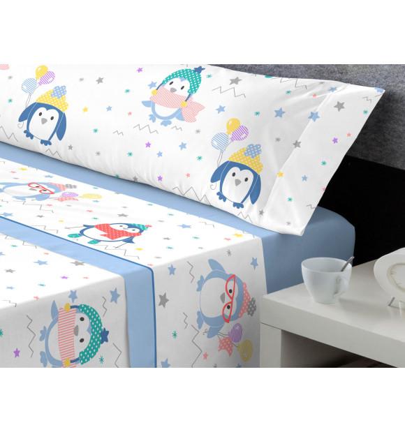 Sábanas Coralina infantiles Miss Pingüi