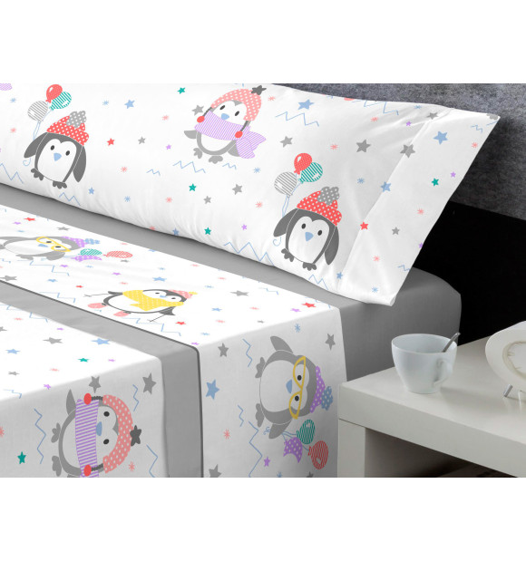 Lençóis Coraline para crianças Miss Pingüi