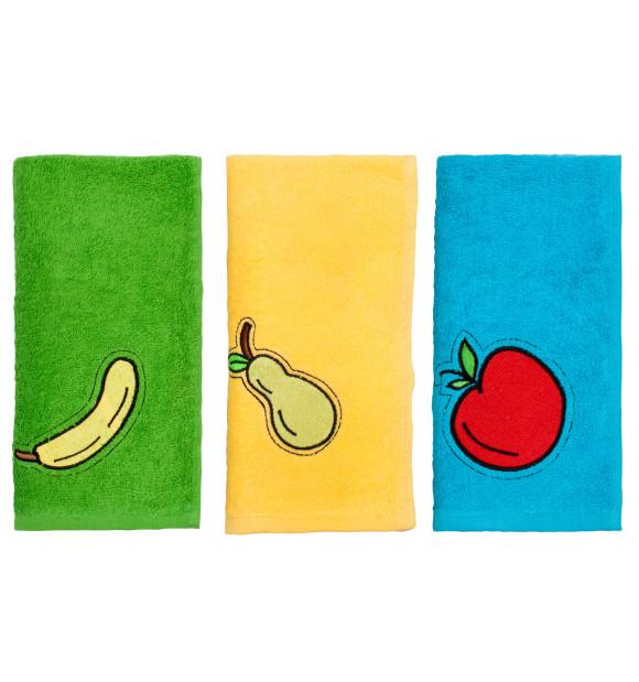 Pano de cozinha de frutas conjunto 3 peças