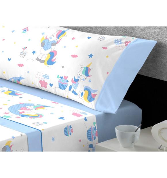 Conjunto de lençóis infantis unicórnio