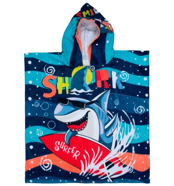 Toalla Poncho Tiburón