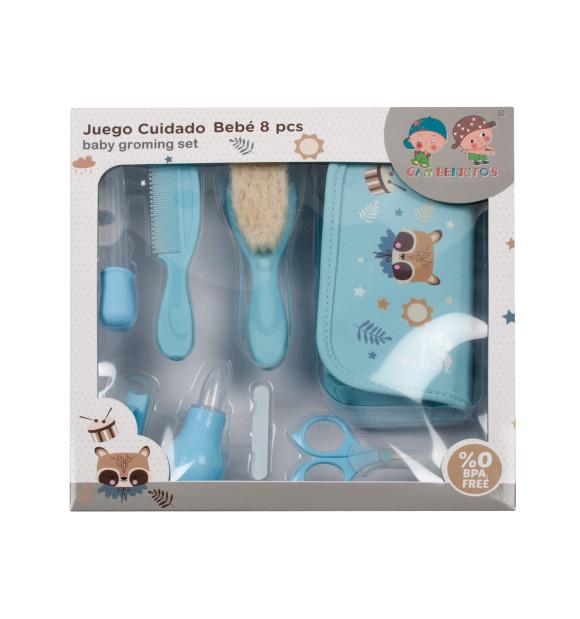 Conjunto de capa de banho + escova + pente infantil