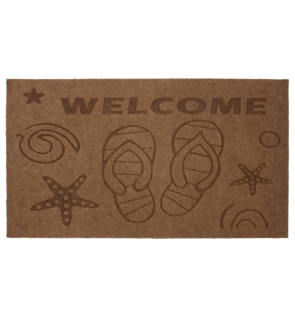 Felpudo de goma Welcome