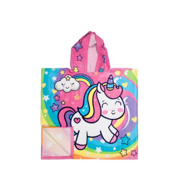 Toalha Poncho Unicorn