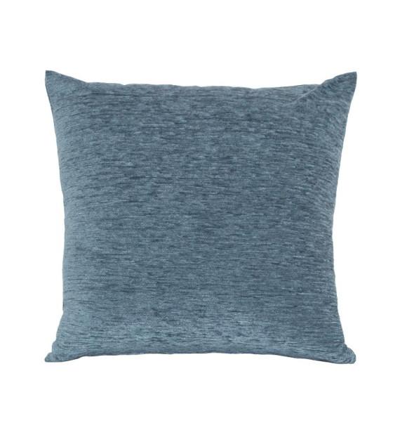 Cojín azul de terciopelo