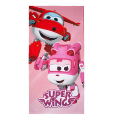 Toalla Playa Super Wings Rosa