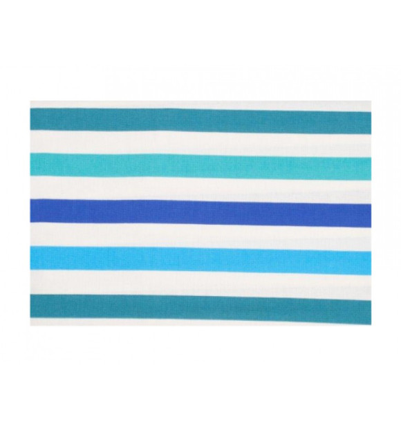 Mantel antimanchas de rayas azules y verdes