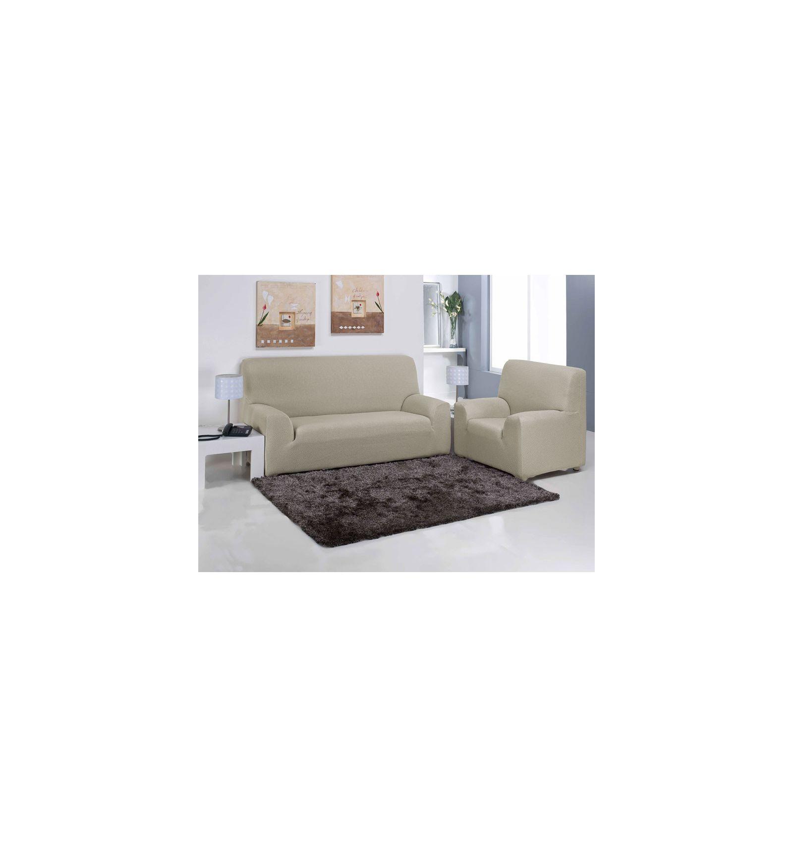 Funda sof carla beige funda sof ajustable revitex online - Fundas para sofa ...